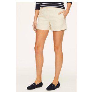 Ann Taylor Beige Khaki Flat Front Shorts Size 0